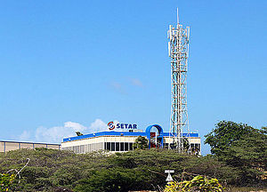 SetarNV - Antenna at Setar headquarters