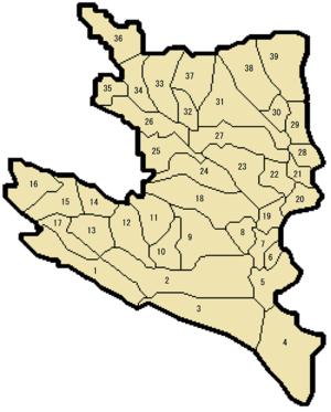 Ulcinj Municipality - Settlements of Ulcinj municipality.
