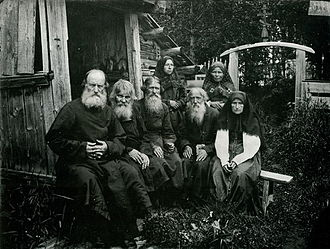 Skete - Russian Old Believers in the Sharpansky Skete (the Kerzhenets River Woods) in 1897