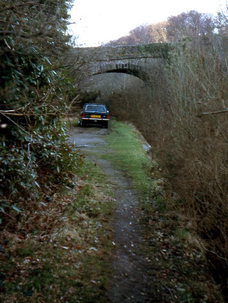File:Shaugh Bridge Railway Halt 1979 - geograph.org.uk - 65107.jpg