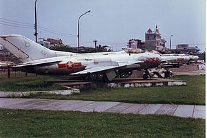 Shenyang J-6 - Shenyang J-6 fighter at Vietnamese People's Air Force Museum, Hanoi