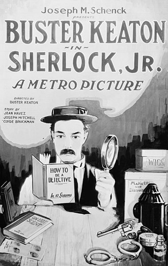 Sherlock Jr. - Theatrical release poster