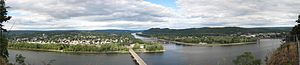 Northumberland Historic District - Image: Shikellamy State Park Overlook Panorama