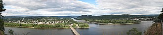 West Branch Susquehanna River - Image: Shikellamy State Park Overlook Panorama