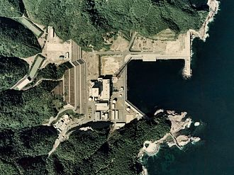 Shimane Nuclear Power Plant - Aerial view, image: Ministry of Land, Infrastructure, Transport and Tourism of Japan