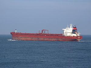 Sibonina - IMO 9036519 - Callsign A8LU6 leaving Port of Rotterdam, Holland 27-Jan-2005 photo-5.jpg