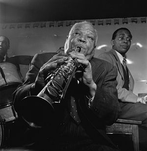 Portrait of Sidney Bechet, Freddie Moore, and ...