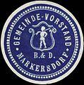 Siegelmarke Gemeinde-Vorstand Markersdorf W0321156.jpg