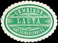 Siegelmarke Gemeinde Lauta - Amtshauptmannschaft Marienberg W0253117.jpg