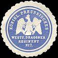 Siegelmarke Königlich Preussisches Westfälisches Dragoner Regiment No. 7 W0223981.jpg