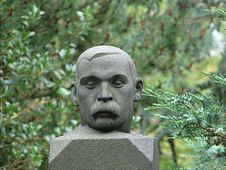 Sigbjørn Obstfelder - Obstfelder's bust in the Frederiksberg Ældre Kirkegård