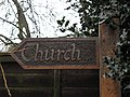 Sign, Church Lane - geograph.org.uk - 671458.jpg