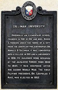 Silliman University historical marker.jpg