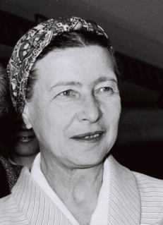 Simone de Beauvoir French writer, intellectual, existentialist philosopher, political activist, feminist, and social theorist