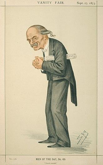 """Julius Benedict - Benedict by Spy in """"Vanity Fair"""", 1873"""