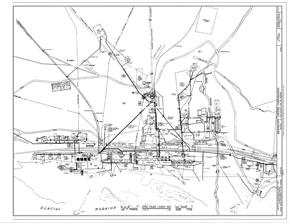 File Site Plan 1935 1936 Kennecott Copper Corporation