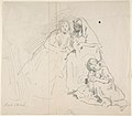 Sketch of Two Seated Women with Young Girl Sitting at Their Feet; Verso- Sketch of a Woman MET DP800919.jpg