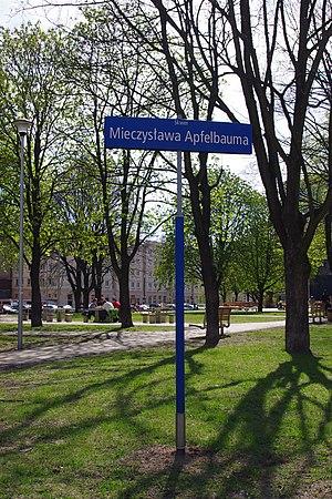 Dawid Moryc Apfelbaum - Mieczysław Apfelbaum Square in Warsaw, Wola district (Nowolipki)