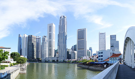 Skyscrapers near Singapore River | Singapour
