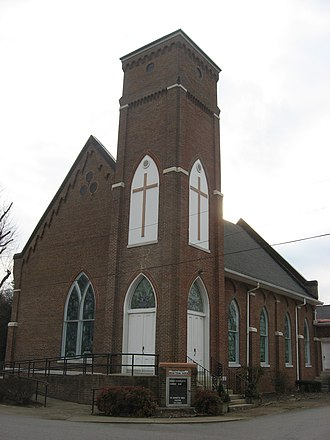 Smiths Grove Presbyterian Church - Front and northern side