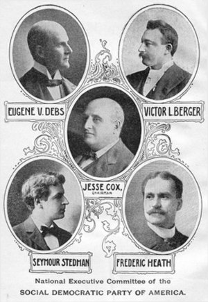 Social Democratic Party of America - 1900 NEC members.