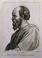 Socrates. Line engraving by D. Cunego, 1783, after A. R. Men Wellcome V0005527.jpg