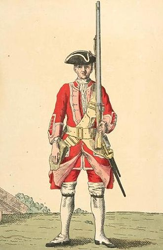 Cheshire Regiment - Soldier of 22nd regiment, 1742