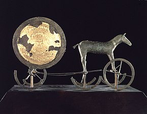 Sun cult artifacts. The Trundholm sun chariot, Denmark.