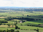 The Somerset Levels, seen from Glastonbury Tor