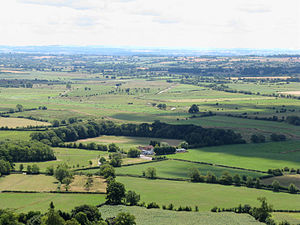 Somerset Levels - The Somerset Levels, seen from Glastonbury Tor