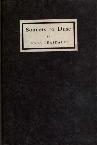 File:Sonnets to Duse and other Poems.djvu