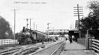 Fitchburg Line - A branch line train at South Acton station in 1911