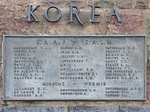Union Defence Force (South Africa) - The names of those who died and are listed as missing can be found on the Memorial plaque in the gardens of the Union Buildings in Pretoria