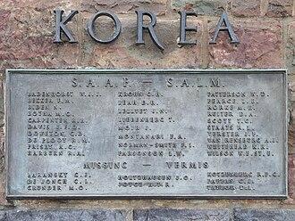 2 Squadron SAAF - Memorial plaque, Union Buildings