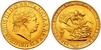 Sovereign (British coin) - Image: Sovereign George III 1817 641656