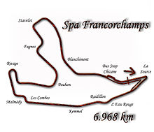 Circuit de Spa-Francorchamps (last modified in 1996)