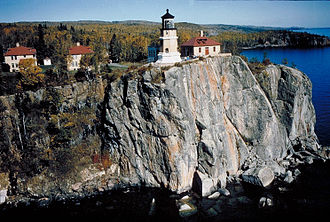 Split Rock Lighthouse - Image: Split Rock Lighthouse Aerial View
