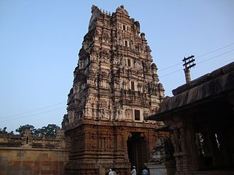 Kodandarama Temple, Vontimitta - View of the Temple's main entrance gopuram