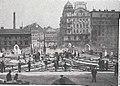 Städtische Straßenbahnen Wien 1903–1913 (page 63 crop) – Einbau der Gleisverbindungen auf der Marienbrücke.jpg