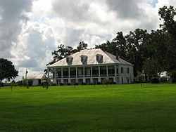 The St. Joseph Plantation house, built in 1840, is located in Vacherie
