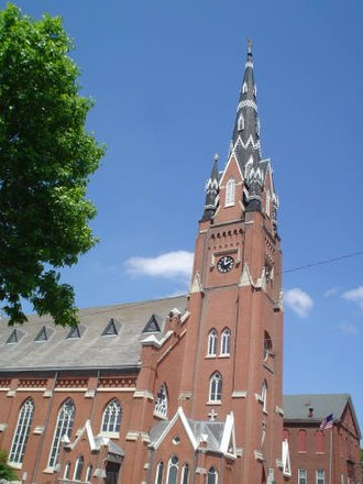 Dubuque, Iowa - Saint Mary's, one of 11 Catholic churches in Dubuque.