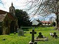St Andrew's churchyard, Blunsdon St Andrew - geograph.org.uk - 734978.jpg