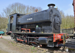 East Kent Railway (heritage) - St Dunstan at the East Kent Railway in protective paint awaiting cosmetic restoration