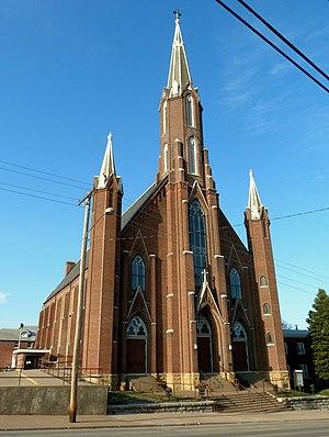 Church of St. John the Baptist (Burlington, Iowa) - The Church of St John the Baptist in 2013.