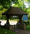 St Martin's Church, Ockham Road South, East Horsley (May 2014) (Lychgate).JPG