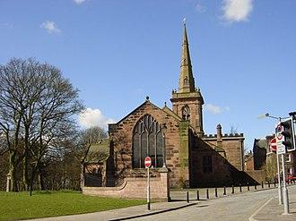 Prescot - Image: St Mary's Church, Prescot