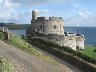 St Mawes Castle - The Henrician castle, seen from the landward side