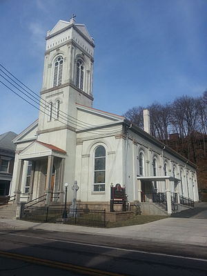 Westernport, Maryland - St. Peter Catholic Church on Church St in January 2014