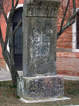 Mekhitarists - Khatchkar from the garden of San Lazzaro degli Armeni