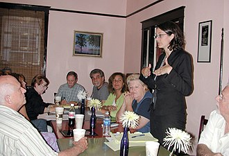 Stacy Head - Head addresses Mid-City New Orleans neighborhood board meeting, 2006